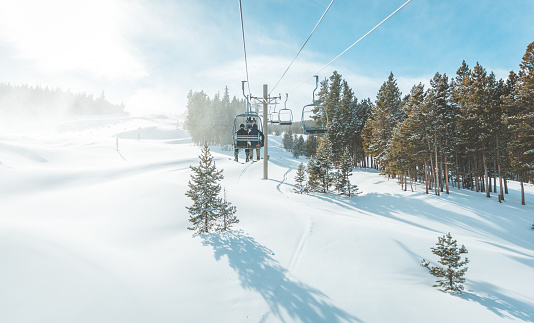 Scenic view of Breckenridge ski resort , Colorado. 1076436610