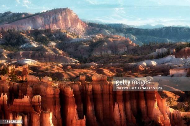 scenic view of bryce canyon - couches superposées photos et images de collection