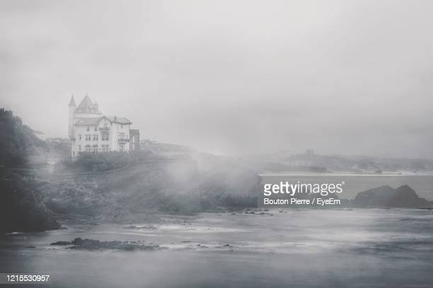 scenic view of building against sky - biarritz stock pictures, royalty-free photos & images