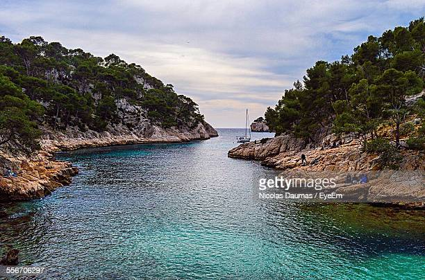 Scenic View Of Calanque