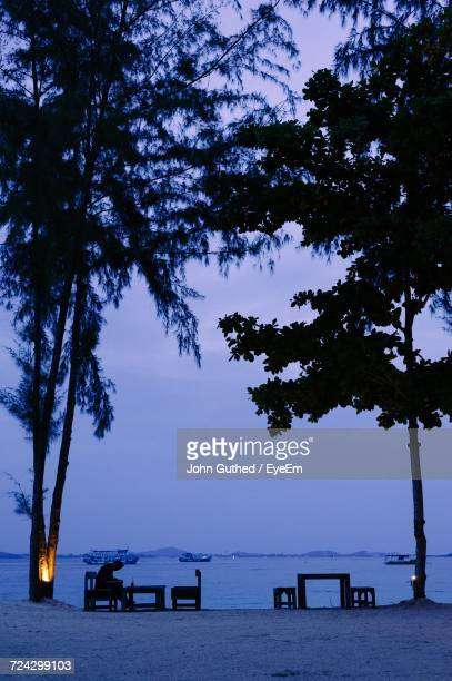 Scenic View Of Calm Blue Sea Against The Sky