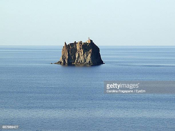 scenic view of calm sea against blue sky - carolina fragapane stock pictures, royalty-free photos & images