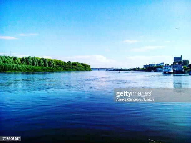 scenic view of calm sea - nizhny novgorod oblast stock photos and pictures