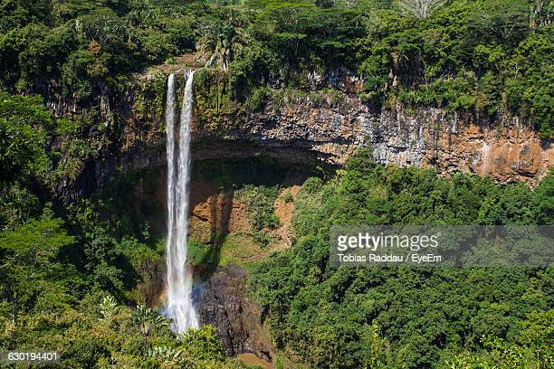 Scenic View Of Chamarel Waterfall