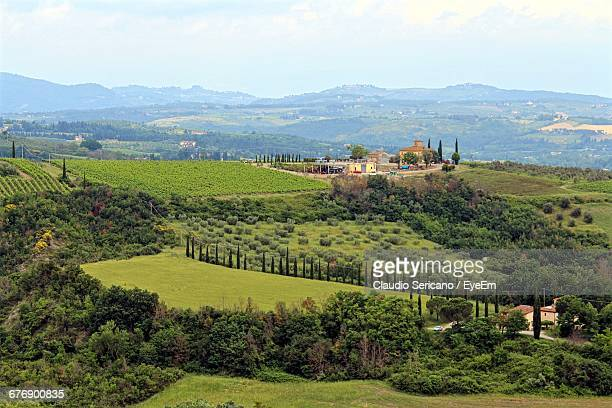 Scenic View Of Chianti Hills Against Sky On Sunny Day