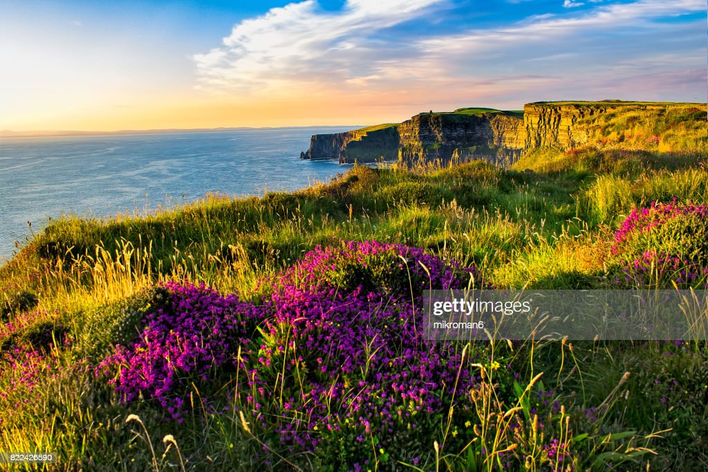 Scenic View Of Cliffs Of Moher, Liscannor, Ireland : Stock Photo