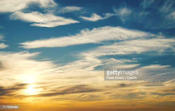scenic view of clouds in sky during sunset - frank swertz stock pictures, royalty-free photos & images
