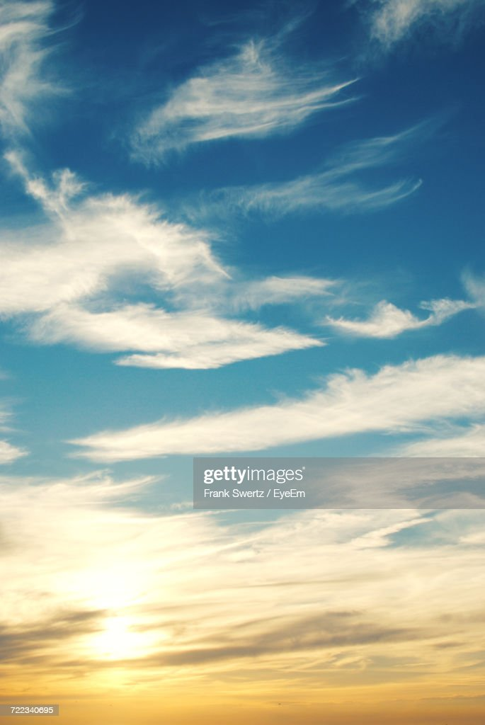 Scenic View Of Clouds In Sky : Stock Photo