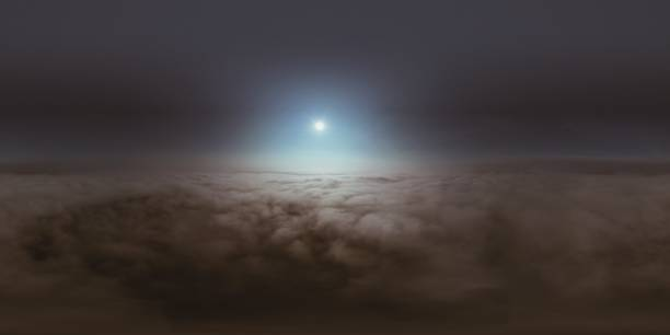 Scenic View Of Cloudscape Against Sky At Night