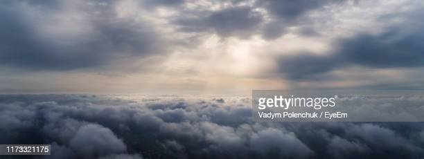 scenic view of cloudscape against sky - ominous stock pictures, royalty-free photos & images