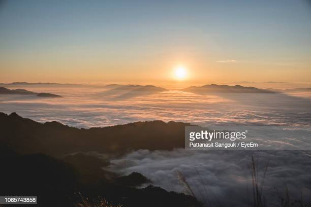 scenic view of cloudscape during sunset - pattanasit stock pictures, royalty-free photos & images