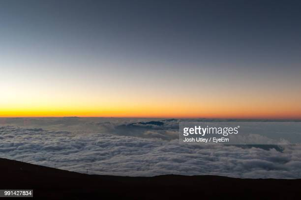 Scenic View Of Cloudscape During Sunset