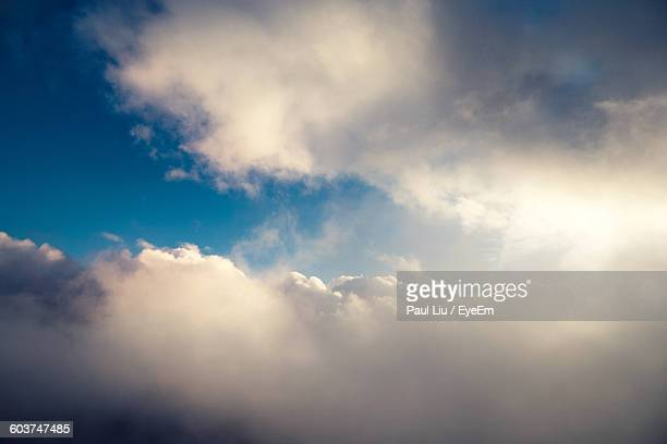 scenic view of cloudscape - liu he stock pictures, royalty-free photos & images