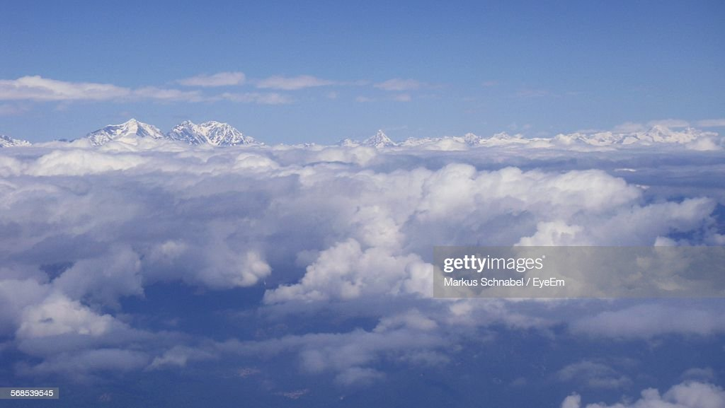 Scenic View Of Cloudy Sky : Stock Photo