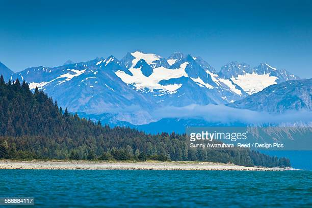 Scenic View Of Coastal Mountains And Muir Inlet, Glacier Bay National Park & Preserve, Southeast Alaska, Summer