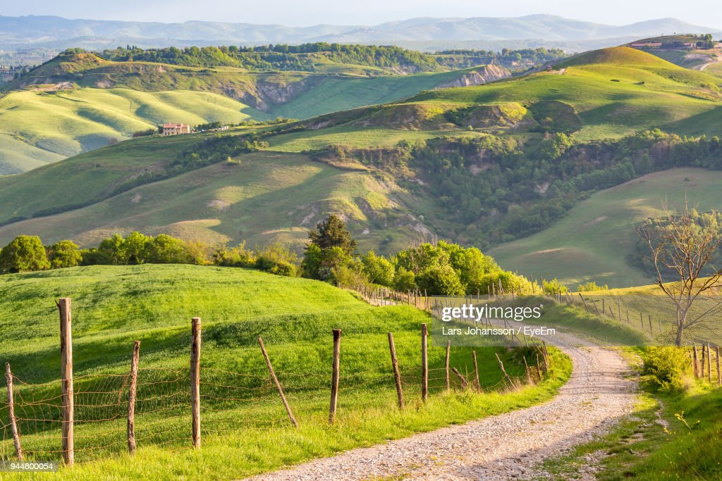 Scenic View Of Country Road Against Sky : Stock Photo