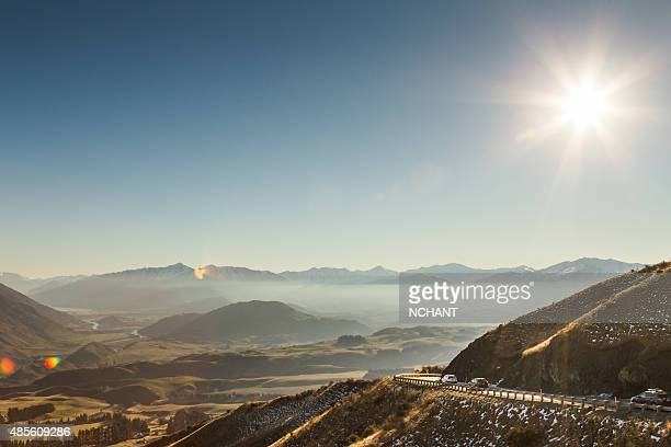 Scenic view of Crown Range Queenstown New Zealand