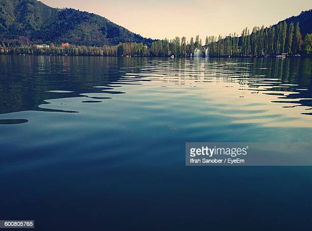 Scenic View Of Dal Lake By Mountain Against Sky
