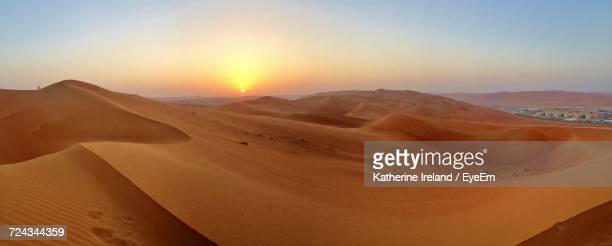 scenic view of desert against clear sky - riyadh stock pictures, royalty-free photos & images