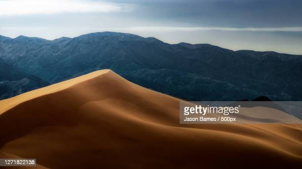 scenic view of desert against sky, pahrump, united states - nature stock pictures, royalty-free photos & images