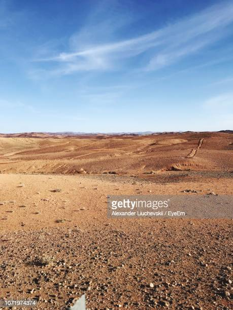 scenic view of desert against sky - north africa stock pictures, royalty-free photos & images