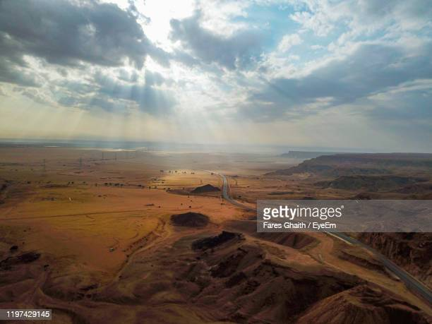 scenic view of desert against sky - saudi arabia stock pictures, royalty-free photos & images