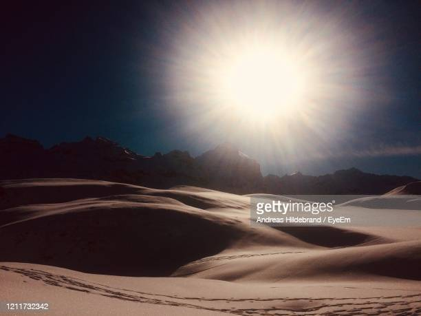 scenic view of desert against sky - andreas solar stock pictures, royalty-free photos & images