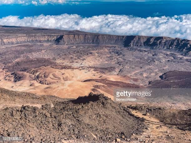 scenic view of desert against sky - bortes stock-fotos und bilder