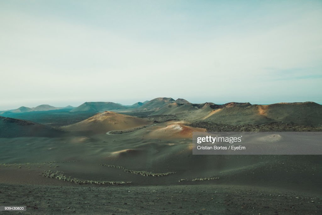 Scenic View Of Desert Against Sky : Stock Photo