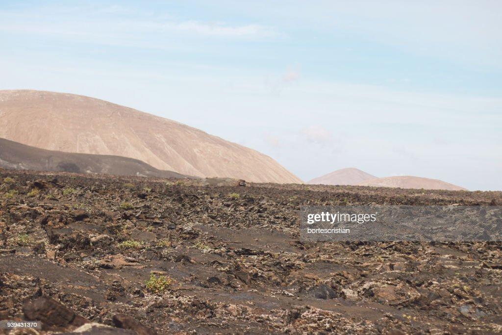 Scenic View Of Desert Against Sky : Stock Photo