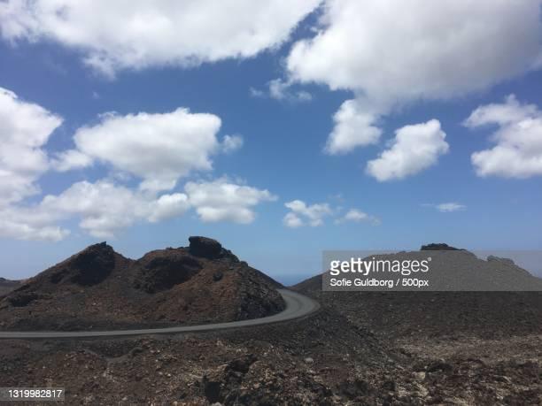 scenic view of desert against sky,spanien,spain - spanien stockfoto's en -beelden