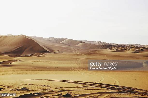 Scenic View Of Dessert Against Clear Sky
