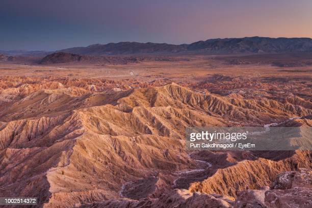 scenic view of dramatic landscape against sky - anza borrego desert state park stock pictures, royalty-free photos & images