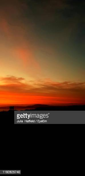 scenic view of dramatic sky during sunset - port talbot stock pictures, royalty-free photos & images