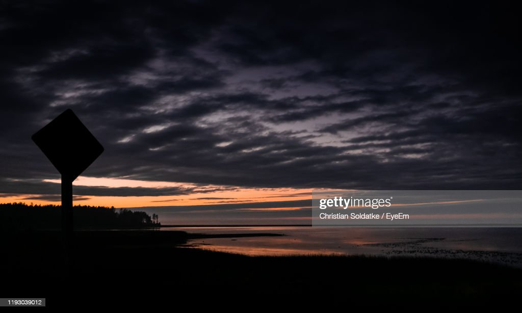 Scenic View Of Dramatic Sky During Sunset : Stock-Foto