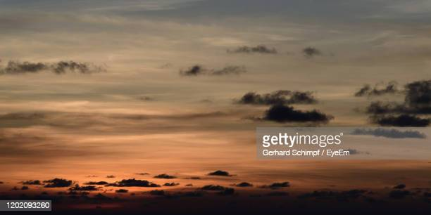 scenic view of dramatic sky during sunset - gerhard schimpf stock pictures, royalty-free photos & images