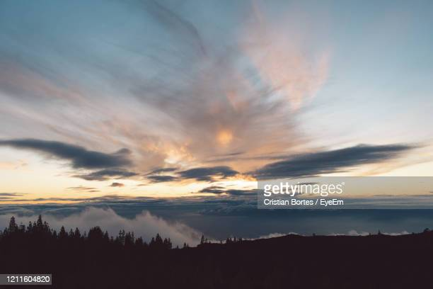 scenic view of dramatic sky during sunset - bortes stock pictures, royalty-free photos & images