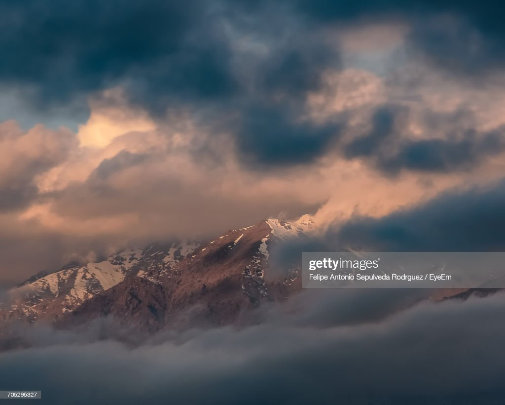 Scenic View Of Dramatic Sky During Sunset : Stock Photo