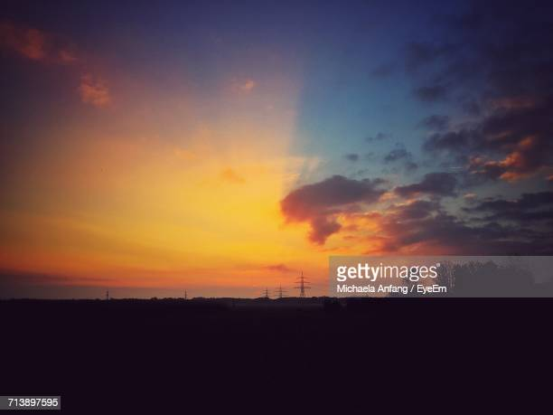 scenic view of dramatic sky during sunset - anfang stock pictures, royalty-free photos & images