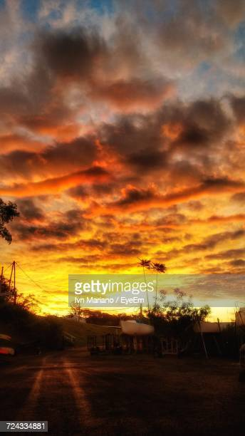 scenic view of dramatic sky during sunset - posadas stock pictures, royalty-free photos & images