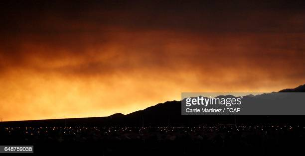 scenic view of dramatic sky - mt charleston stock photos and pictures