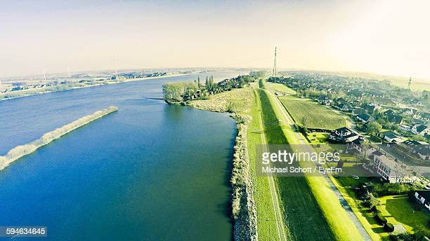 Scenic View Of Elbe River Against Sky