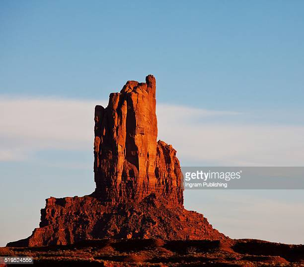 Scenic view of eroded rock in Monument Valley