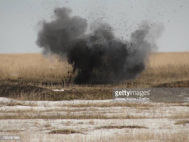 scenic view of explosion - hand grenade stock pictures, royalty-free photos & images