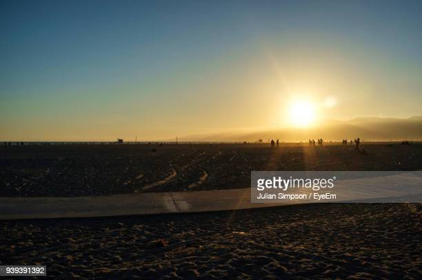 scenic view of field against clear sky during sunset - julian california stock photos and pictures