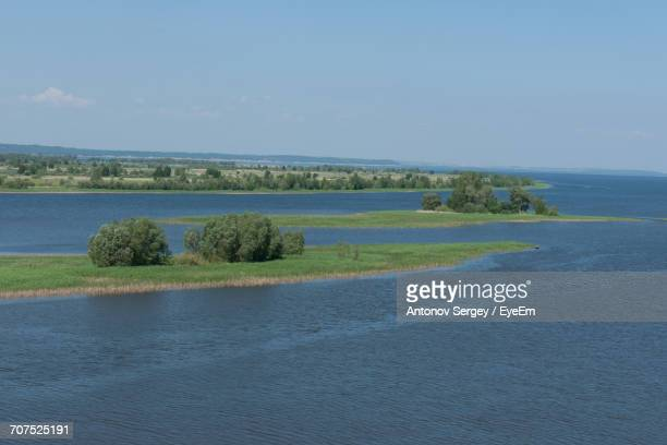 scenic view of field against clear sky - antonov stock pictures, royalty-free photos & images