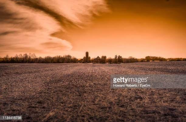 scenic view of field against sky during sunset - norristown stock pictures, royalty-free photos & images