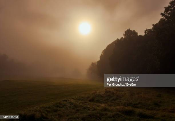 scenic view of field against sky during sunset - per grunditz stock pictures, royalty-free photos & images