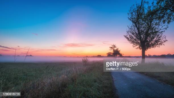 scenic view of field against sky during sunset,germany - ミュンスター市 ストックフォトと画像