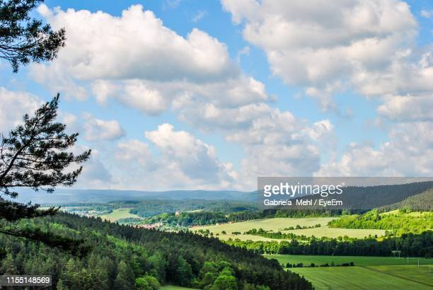 scenic view of field against sky - gabriela stock pictures, royalty-free photos & images
